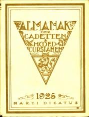 N/A - Almanak van cadetten en hoofdcursianen voor 1925