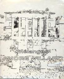 - Mélanges André Villard