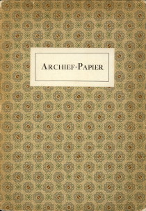 - Archief-papier ter Internationale grafische tentoonstelling te Amsterdam in den jare 1913