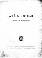 Afbeelding van tweedehands boek: PLEMP VAN DUIVELAND, MR. L.J-Willem Frederik. Koning der Nederlanden