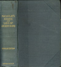 Lord macaulays essays and lays of ancient rome