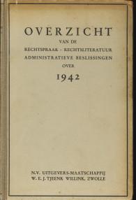 - Overzicht van de rechtspraak-rechtsliteratuur administratieve beslissingen over 1941