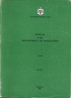 - Annual of the Department of Antiquities of Jordan XXVII. Text + plates (2 volumes)
