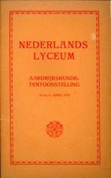 - Nederlands Lyceum. Aardrijkskundetentoonstelling 10 t/m 13 april 1938