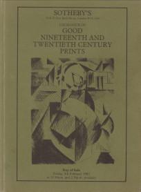 - Good Nineteenth and Twentieth Century Prints