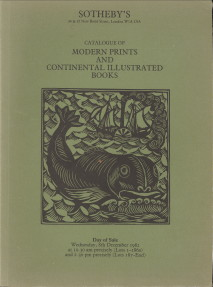 - Modern prints and continental illustrated books