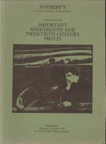 - Important Nineteenth and Twentieth Century Prints
