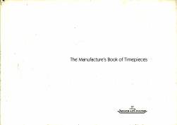 - The Manufacture's Book of Timepieces - 2002/2003 edition
