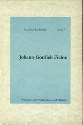 Afbeelding van tweedehands boek: FICHTE, JOHANN GOTTLIEB-Schriften der Revolution