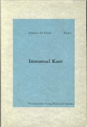 Afbeelding van tweedehands boek: KANT, IMMANUEL-Politische Schriften