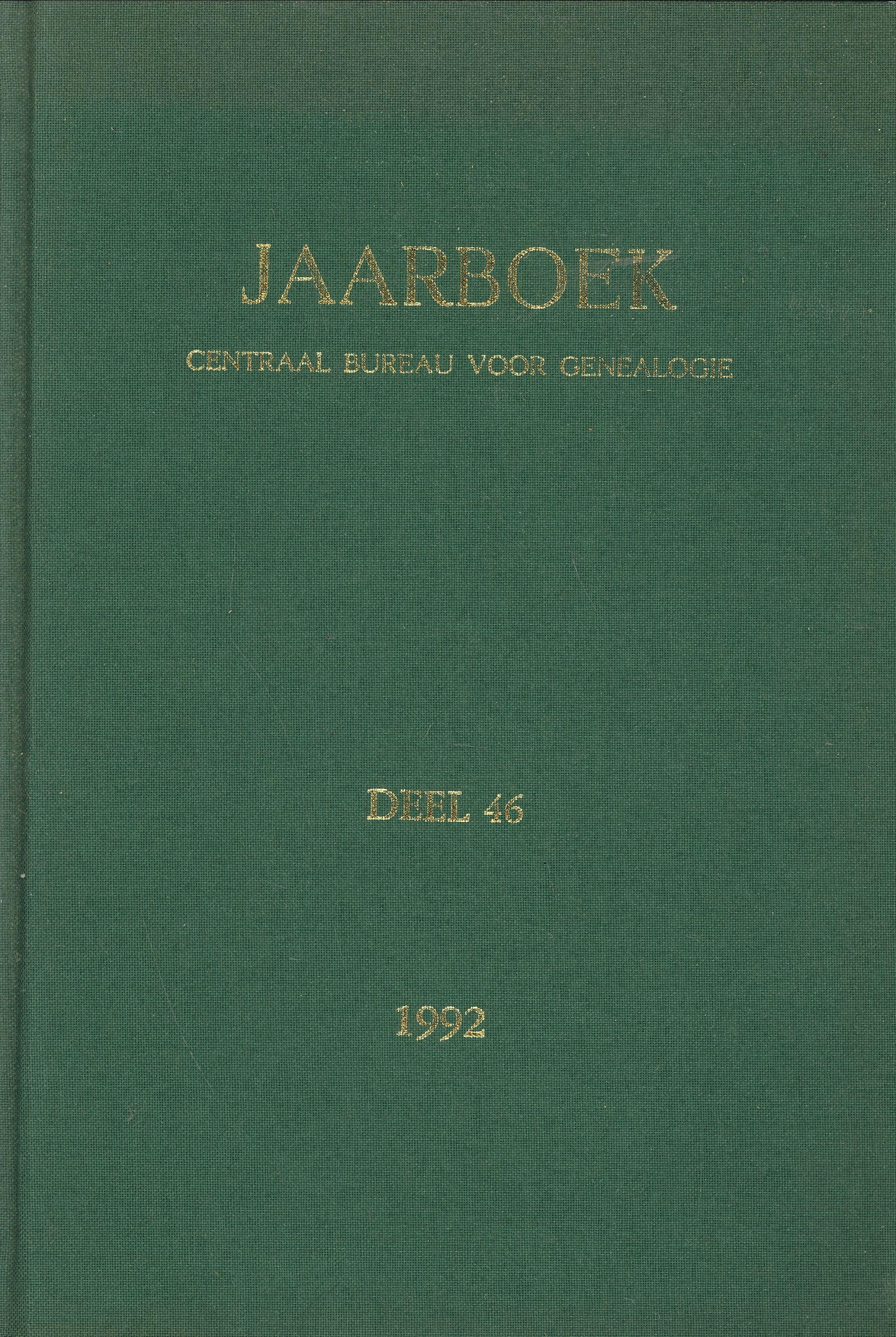- Jaarboek van het Centraal Bureau voor Genealogie en het Iconographisch Bureau, deel 46