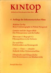 Afbeelding van tweedehands boek: KESSLER, FRANK; LENK, SABINE; LOIPERDINGER, MARTIN (Redaktion)-Kintop 4. Anfänge des dokumentarische Films