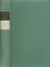 Afbeelding van tweedehands boek: EICHENDORFF, FREIHERR JOSEPH VON -Tagebücher. Übertragungen. Dritter Band der Werke und Schriten in vier Bànden